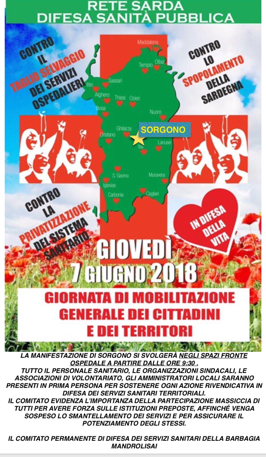 GIOVEDI 7 GIUGNO 2018 MANIFESTAZIONE DEL TERRITORIO