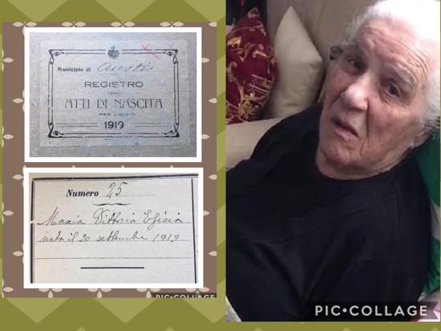Gli auguri a zia Vittoria Efisia Mascia per i suoi  100 anni
