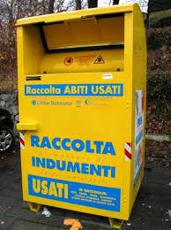 CONFERIMENTO INDUMENTI CASSONETTO GIALLO