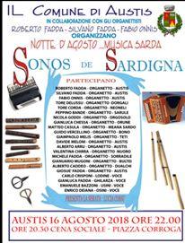 SONOS DE SARDIGNA 2018 - NOTTE D'AGOSTO...MUSICA SARDA