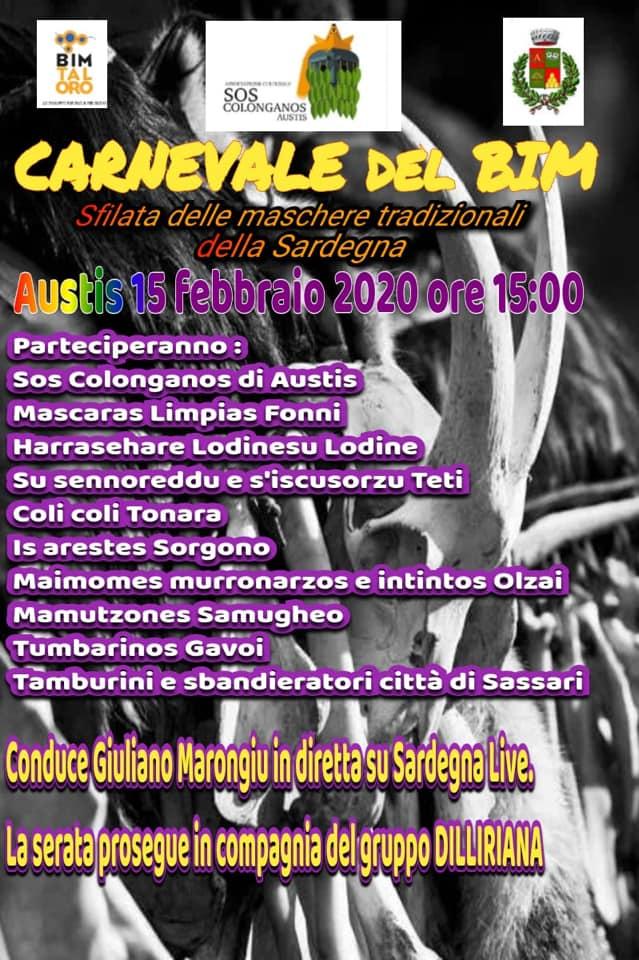 CARNEVALE DEL BIM TALORO - AUSTIS 15 FEBBRAIO 2020
